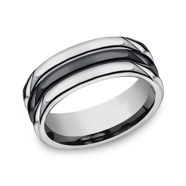 Forge Tungsten and Seranite Comfort-Fit Design Wedding Band RECF78862CMTG06 product image