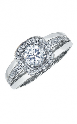 Frederic Sage Halo Engagement Ring RM103-4-W product image