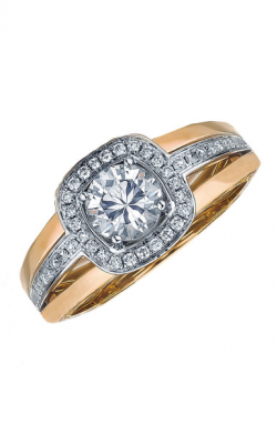 Frederic Sage Halo Engagement ring RM103-WP product image