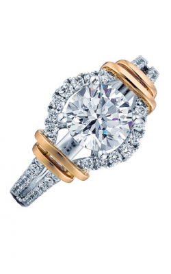 Frederic Sage Halo Engagement ring RM156-PW product image