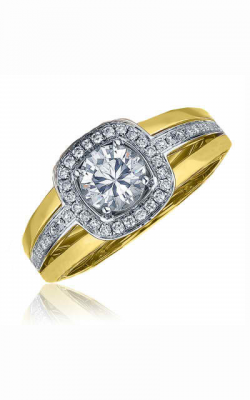 Frederic Sage Halo Engagement ring RM103-WY product image