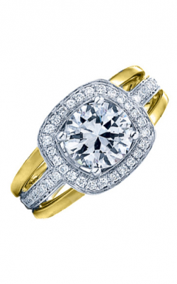 Frederic Sage Halo Engagement ring RM103-2-WY product image