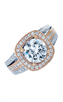 Frederic Sage Halo Engagement ring RM107-2-PW product image