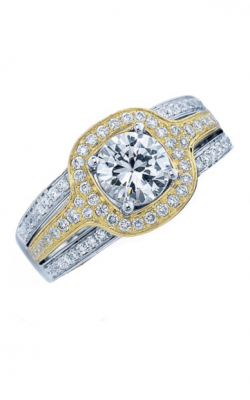 Frederic Sage Halo Engagement Ring RM109-YW product image
