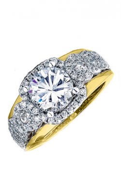 Frederic Sage Halo Engagement ring RM116-2-WY product image