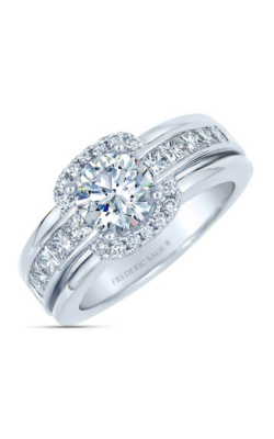 Frederic Sage Halo Engagement Ring RM4044-W product image
