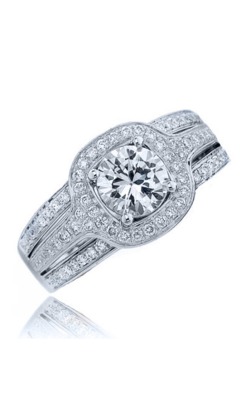 Frederic Sage Halo Engagement Ring RM107-W product image