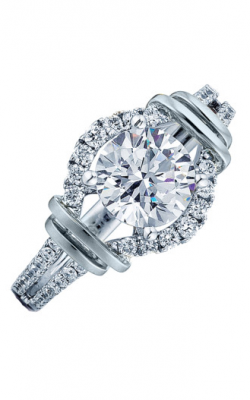 Frederic Sage Halo Engagement ring RM156-W product image