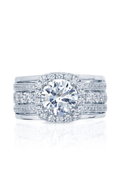 Frederic Sage Halo Engagement Ring RM4992-2-4W product image
