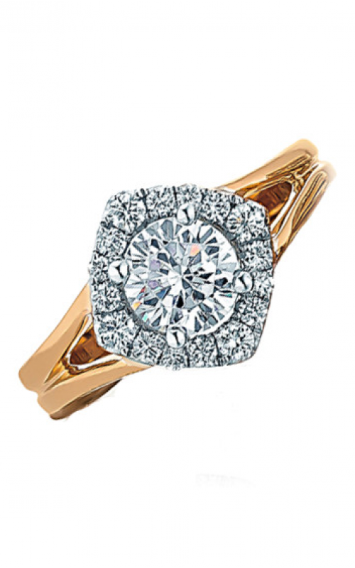 Frederic Sage Halo Engagement ring RM115-4-WP product image