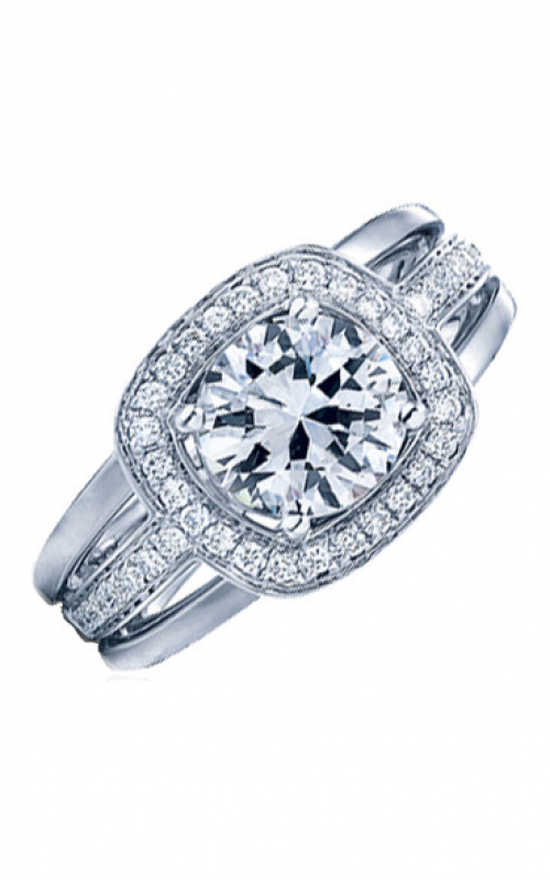 Frederic Sage Halo Engagement ring RM103-2-4W product image