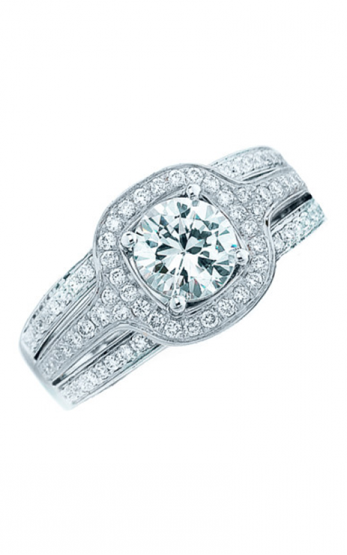 Frederic Sage Halo Engagement ring RM109-W product image