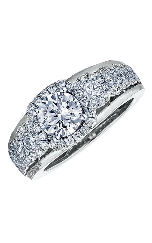 Frederic Sage Halo Engagement ring RM116-1-W product image