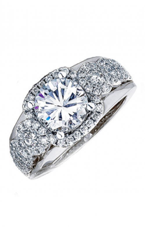 Frederic Sage Halo Engagement ring RM116-1-4W product image
