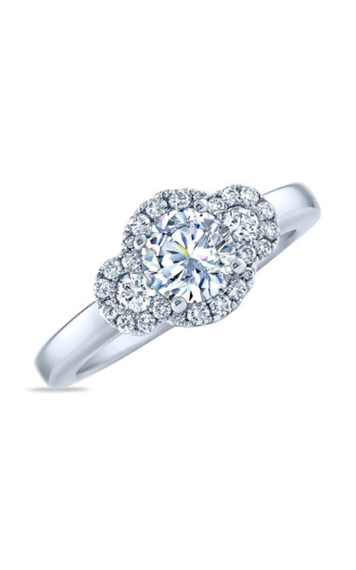 Frederic Sage Halo Engagement ring RM4010-W product image
