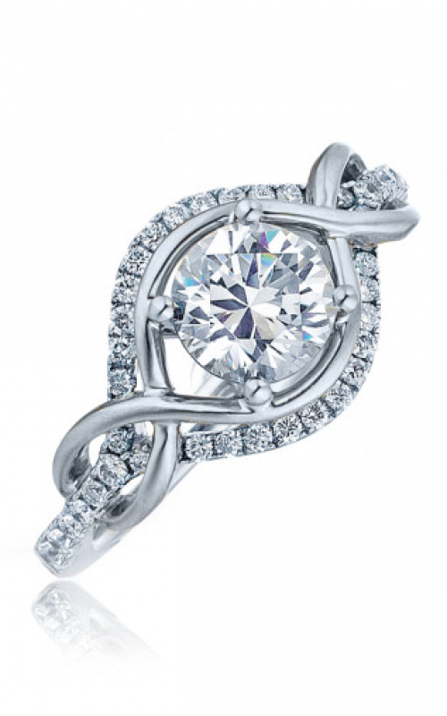 Frederic Sage Halo Engagement ring RM4207-W product image