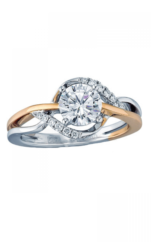 Frederic Sage Halo Engagement ring RM4214-4-PW product image