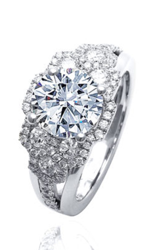 Frederic Sage Halo Engagement ring RM4835-2-W product image