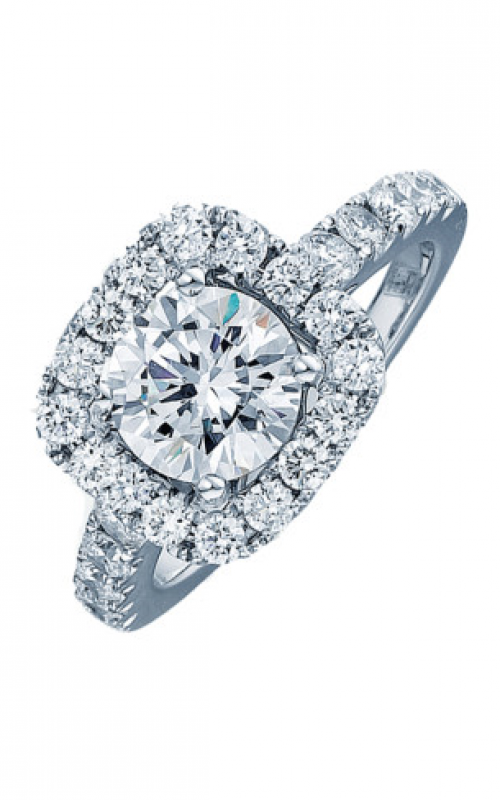 Frederic Sage Halo Engagement ring RM4002-W product image