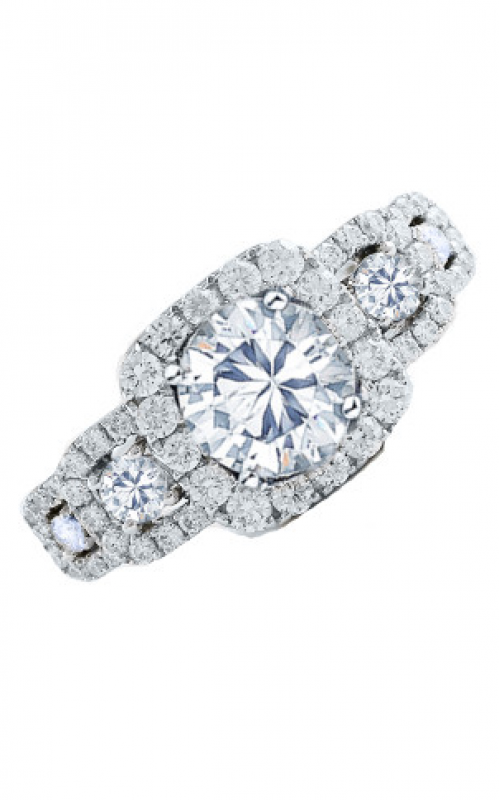 Frederic Sage Halo Engagement ring RM4037-W product image
