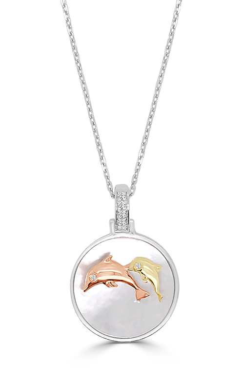 Frederic Sage Natural Shells Necklace P3476W-DB-WPY product image