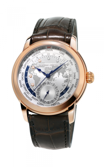 Frederique Constant Manufacture Classic Worldtimer Watch FC-718WM4H4 product image