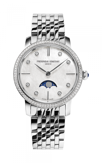Frederique Constant Slimline Ladies Moonphase FC-206MPWD1SD6B product image