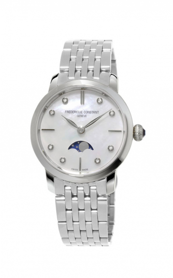Frederique Constant  Slimline Ladies Moonphase Watch FC-206MPWD1S6B product image