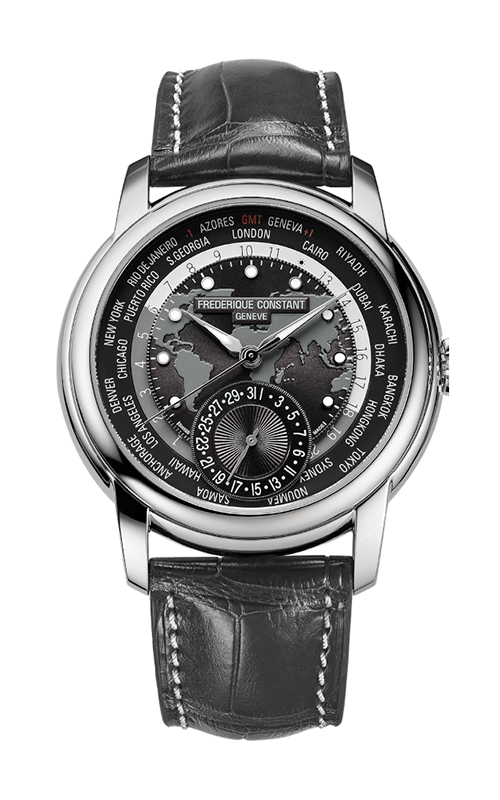Frederique Constant  Classic Worldtimer Watch FC-718DGWM4H6 product image