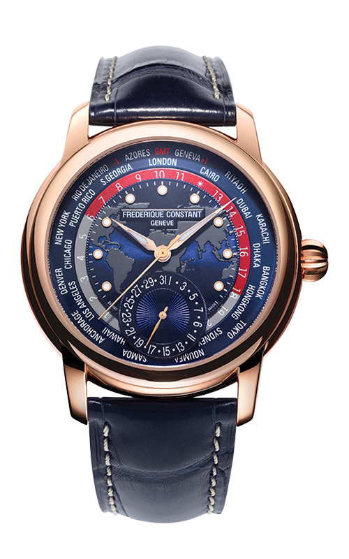 Frederique Constant Manufacture Classic Worldtimer Watch FC-718NRWM4H9 product image