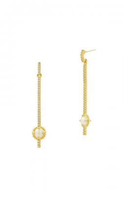 Freida Rothman Textured Pearl Earrings TPYZFPE01-14K product image