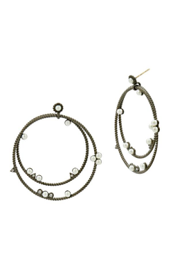 Freida Rothman Textured Pearl Earrings TPKZFPE07-14K product image