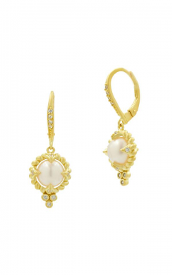 Freida Rothman Textured Pearl Earrings TPYZFPE04 product image