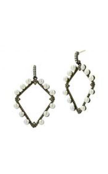 Freida Rothman Textured Pearl Earrings TPYZFPE02-14K product image