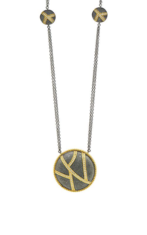 Freida Rothman Textured Ornaments Necklace TOYKZN01-27 product image