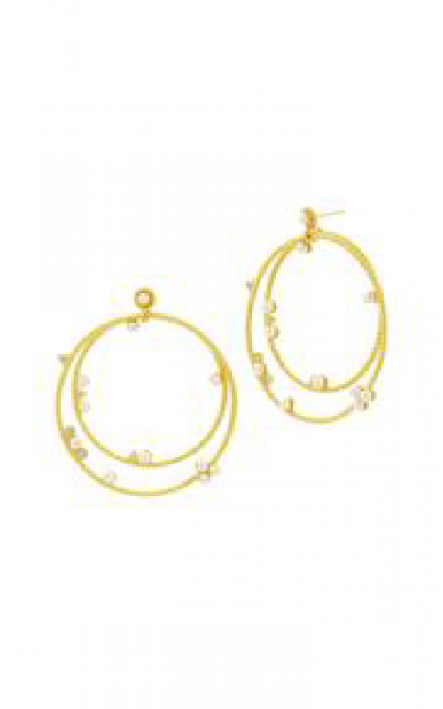 Freida Rothman Textured Pearl Earrings TPYZFPE07-14K product image