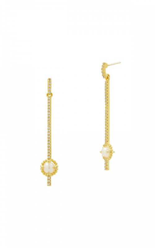Freida Rothman Textured Pearl Earrings TPYZFPE01-14K product image