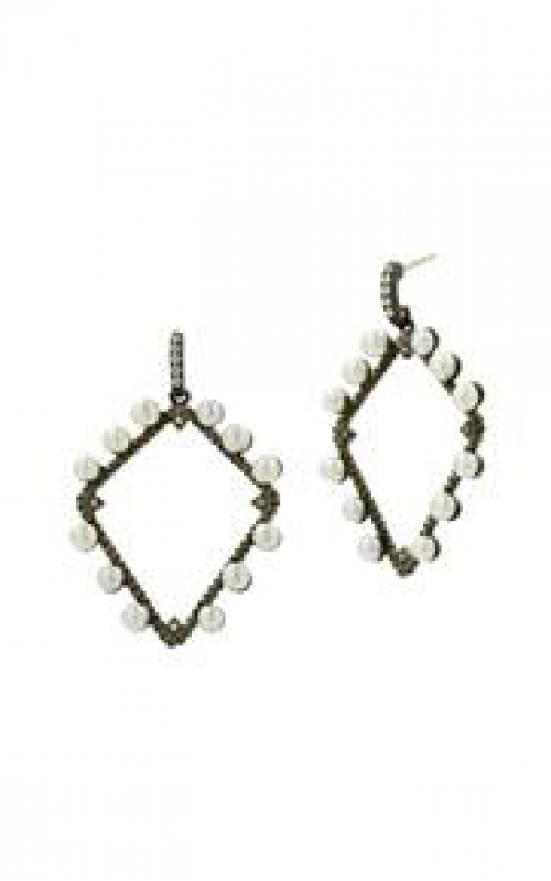 Freida Rothman Textured Pearl Earrings TPYZFPE02-14K product image