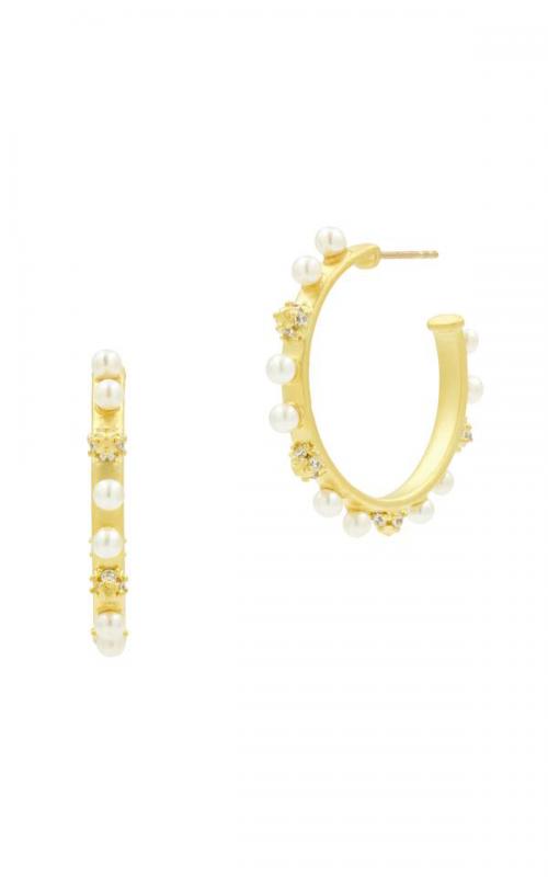 Freida Rothman Textured Pearl Earrings TPYZFPE06-14K product image