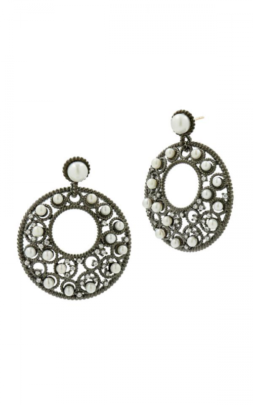 Freida Rothman Textured Pearl Earrings TPKZFPE11-14K product image