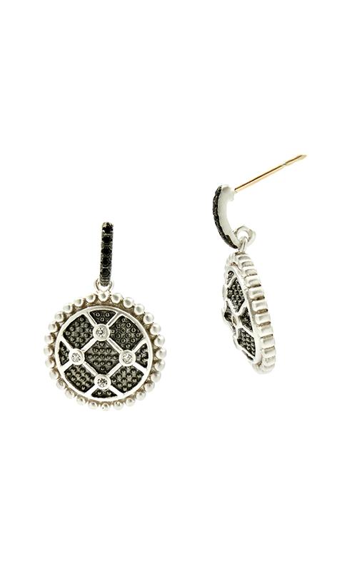 Freida Rothman Industrial Finish Earrings IFPKZBKE35-14K product image