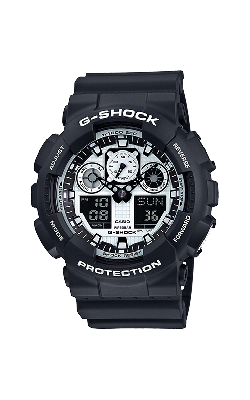 G-Shock Watch GA100BW-1A product image
