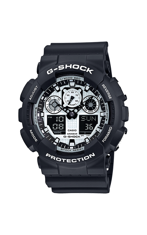 G-Shock Analog-Digital GA100BW-1A product image