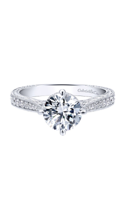 Gabriel & Co. Crown Engagement Ring ER12674R4W44JJ product image