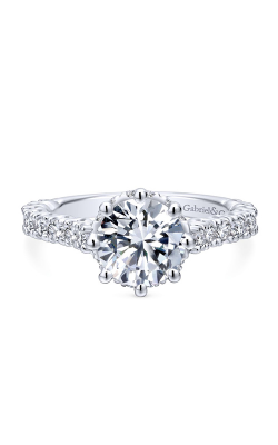 Gabriel & Co. Crown Engagement Ring ER12753R6W44JJ product image