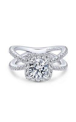 Gabriel & Co. Rosette Engagement Ring ER12587R4W44JJ product image
