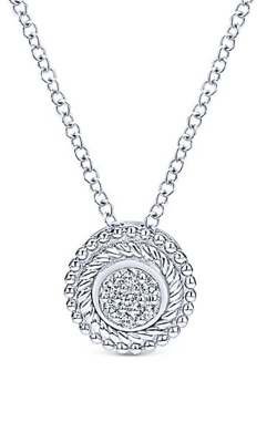 Gabriel & Co. Hampton Diamond Necklace NK3478SV5JJ product image