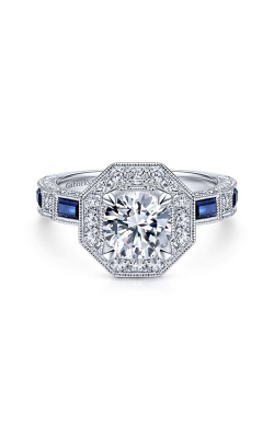 Gabriel & Co Art Deco Engagement Ring ER14494R4W44SA product image
