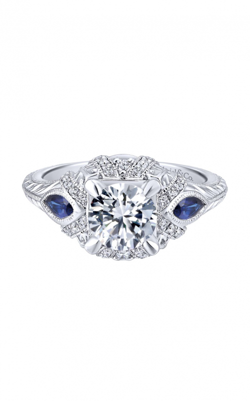 Gabriel & Co. Victorian Engagement Ring ER12583R4W44SA product image