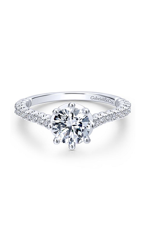 Gabriel & Co. Crown Engagement ring ER12667R4W44JJ product image